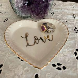 Ceramic Love Ring Plate